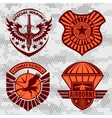 Military airforce patch set - armed forces badges vector image