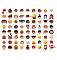 big Set of cartoon children head vector image