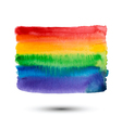 Abstract watercolor rainbow background for design vector image