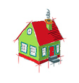 Colorful house sketch isolated on white vector image