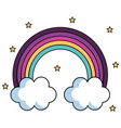 cute rainbow design vector image