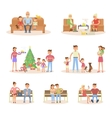 Different types of married couple set vector image
