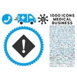 Error Icon with 1000 Medical Business Pictograms vector image