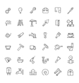 icons set - construction home repair tools vector image