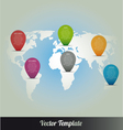 Information Continent Global World Map vector image