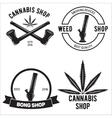Set of medical marijuana logos Cannabis badges vector image