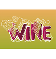 Ink hand drawn wine lettering vector image vector image