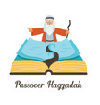 abstract passover story haggadah book mozes vector image