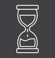 hourglass line icon business and deadline vector image