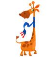 cute cartoon giraffe character vector image