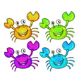 Four colourful crabs vector image vector image