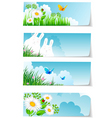 stickers set nature vector image vector image