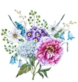 Hand drawn watercolor flowers vector image vector image