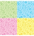 seamless patterns with music symbols vector image