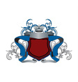 Blue and Red Heraldry Design vector image