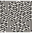 Seamless Black And White Maze Lines vector image