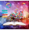 Abstract creative concept siluet hands of vector image