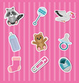 baby shower icon set design vector image