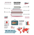 Books step education infographics Education vector image