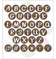 Buttons with letters of the alphabet vector image