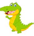 happy crocodile cartoon vector image