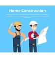 Home Construction Design Banner Conceptual vector image