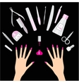 Nail and manicure vector image