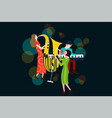 series of music jazz blues concert composition vector image