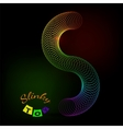 with spring Slinky rainbow colors and typography vector image