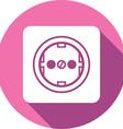 Power Plug Button Icon vector image