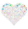 soldier fireworks heart vector image