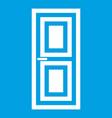 door icon white vector image vector image