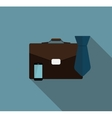 Business Proces Icon Flat Icon with Long Shadow vector image vector image
