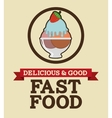 delicious and good food design vector image