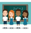 students in classroom design vector image