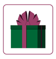 Colorful wrapped gift box icon green vector image vector image