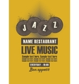 Musical poster for jazz restaurant vector image vector image