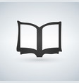book icon on light background vector image