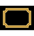 Gold frame Beautiful golden black vector image