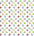 Macaroons seamless pattern Hand drawn sketch vector image