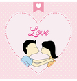 Romantic card75 vector image