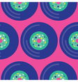 Seamless Vinyl Record Pattern Icon vector image