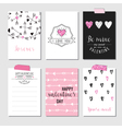 Set of Love Cards - Valentines Day Invitation vector image