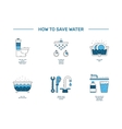simbol saving water vector image