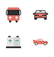 set of simple shipping icons elements coupe vector image