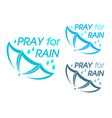 Pray for rain vector image
