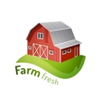 Farm icon vector image vector image
