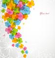flowers color backgr vector image vector image