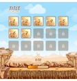 Stone and rocks desert game background with user vector image vector image