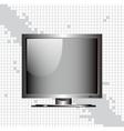 blank monitor vector image